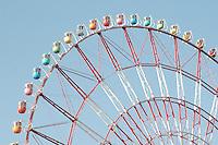 Tokyo, Nippon, Japan, Riesenrad, Gondeln, Color, Bunt, Joypolis, Tokio, Vergnügen, Park, Odaibakaihinkoen, Shimbashi,.(photo.:Stefan Noebel-Heise)