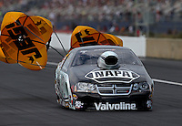 Mar. 17, 2013; Gainesville, FL, USA; NHRA pro stock driver Vincent Nobile during the Gatornationals at Auto-Plus Raceway at Gainesville. Mandatory Credit: Mark J. Rebilas-