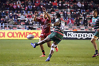 26th September 2020; Toulon, France; European Challenge Cup Rugby, semi-final; RC Toulon versus Leicester Tigers;  Kini Murimurivalu (Leicester) kicks for field position