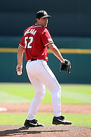 August 22 2008:  John Halama of the Buffalo Bisons, Class-AAA affiliate of the Cleveland Indians, during a game at Dunn Tire Park in Buffalo, NY.  Photo by:  Mike Janes/Four Seam Images