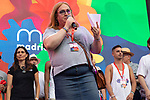 President of COGAM Carmen Garcia during the presentation of the lgtb pride party of Madrid. July 3, 2019. (ALTERPHOTOS/JOHANA HERNANDEZ)