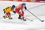 Eishockey: Deutschland – Tschechien am 01.05.2021 in der ARENA Nürnberger Versicherung in Nürnberg<br /> <br /> Tschechiens Jan Scotka (Nr.96) gegen Deutschlands Laurin Braun (Nr.12)<br /> <br /> Foto © Duckwitz/osnapix/PIX-Sportfotos *** Foto ist honorarpflichtig! *** Auf Anfrage in hoeherer Qualitaet/Aufloesung. Belegexemplar erbeten. Veroeffentlichung ausschliesslich fuer journalistisch-publizistische Zwecke. For editorial use only.