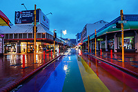 Cuba Mall, Wellington CBD, at 7am during Level 4 lockdown for the COVID-19 pandemic in Wellington, New Zealand on Friday, 27 August 2021.