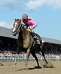 SARATOGA SPRINGS - AUGUST 27: Haveyougoneaway #10, ridden by John Velazquez, wins the Ballerina Stakes on Travers Stakes Day at Saratoga Race Course on August 27, 2016 in Saratoga Springs, New York. (Photo by Bob Mayberger/Eclipse Sportswire/Getty Images)