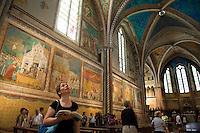 Kirche San Francesco in Assisi, Umbrien, Italien , UNESCO-Weltkulturerbe