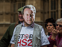 "28.04.2014 - ""Stop HS2"" - Demo Outside Parliament"