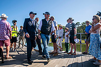BNPS.co.uk (01202 558833)<br /> Pic: MaxWillcock/BNPS<br /> <br /> Pictured: The Right Honourable The Lord Montagu of Beaulieu and Sir Ben Ainslie arrive.<br /> <br /> Britain's most decorated Olympic sailor Sir Ben Ainslie is the guest of honour at a celebration for the 50th anniversary and completion of the £2m redevelopment of Buckler's Hard Yacht Harbour in Beaulieu, Hampshire.