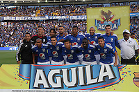 BOGOTÁ -COLOMBIA-13-02-2016. Formacion  de Millonarios  contra Deportivo Pasto   durante partido por la fecha 3 de Liga Águila I 2016 jugado en el estadio Nemesio Camacho El Campin de Bogotá./ Team  of Millonarios against  of Deportivo Pasto  during the match for the date 3 of the Aguila League I 2016 played at Nemesio Camacho El Campin stadium in Bogota. Photo: VizzorImage / Felipe Caicedo / Staff