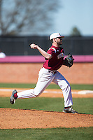 Winthrop Eagles relief pitcher Travis Shelley (5) in action against the Kennesaw State Owls at the Winthrop Ballpark on March 15, 2015 in Rock Hill, South Carolina.  The Eagles defeated the Owls 11-4.  (Brian Westerholt/Four Seam Images)
