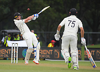 NZ's Kyle Jamieson bats during day three of the second International Test Cricket match between the New Zealand Black Caps and Pakistan at Hagley Oval in Christchurch, New Zealand on Tuesday, 5 January 2021. Photo: Dave Lintott / lintottphoto.co.nz