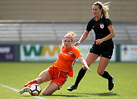 Portland, OR - Wednesday March 14, 2018: Veronica Latsko, Katie Naughton during a National Women's Soccer League (NWSL) pre season match between the Houston Dash and the Chicago Red Stars at Merlo Field.