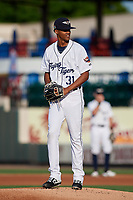 Lakeland Flying Tigers starting pitcher Elvin Rodriguez (31) during a Florida State League game against the St. Lucie Mets on April 24, 2019 at Publix Field at Joker Marchant Stadium in Lakeland, Florida.  Lakeland defeated St. Lucie 10-4.  (Mike Janes/Four Seam Images)