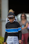 AUG 24,2014:Shared Belief,ridden by Mike Smith,wins the TVG Pacific Classic at Del Mar in Del Mar,CA. Mike Smith is goning to paddock. Kazushi Ishida/ESW/CSM