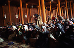 Women gather in the world famous Jamia mosque for Friday prayer at Srinagar. Kashir valley, India