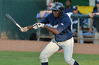 Ruben Ozuna (22) of the Helena Brewers at bat against the Ogden Raptors in Pioneer League play at Lindquist Field on July 23, 2013 in Ogden Utah. (Stephen Smith/Four Seam Images)