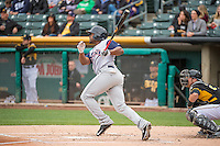 Chris Nelson (15) of the Colorado Springs Sky Sox at bat against the Salt Lake Bees in Pacific Coast League action at Smith's Ballpark on May 22, 2015 in Salt Lake City, Utah.  (Stephen Smith/Four Seam Images)