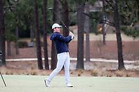 PINEHURST, NC - MARCH 02: Peter Fountain of the University of North Carolina hits an approach shot on the fifth hole at Pinehurst No. 2 on March 02, 2021 in Pinehurst, North Carolina.