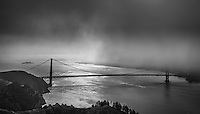 Looking into San Francisco Bay from the Marin Headlands on an early summer morning provides lots of contrast and drama.