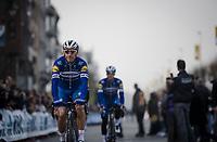 Philippe GILBERT (BEL/Deceuninck-Quick Step) off to sign-on<br /> <br /> 103rd Ronde van Vlaanderen 2019<br /> One day race from Antwerp to Oudenaarde (BEL/270km)<br /> <br /> ©kramon