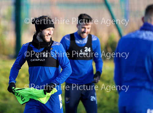 St Johnstone Training…. 22.12.20<br />Stevie May pictured during training at McDiarmid Park<br />Picture by Graeme Hart.<br />Copyright Perthshire Picture Agency<br />Tel: 01738 623350  Mobile: 07990 594431