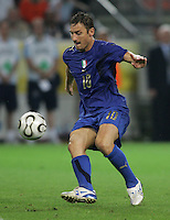 Francesco Totti.  Italy defeated Germany, 2-0, in overtime in their FIFA World Cup semifinal match at FIFA World Cup Stadium in Dortmund, Germany, July 4, 2006.