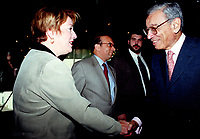 Ottawa, September 13, 1998 File Photo<br /> United Nation General Secretary ;  Dr. Boutros Boutros-Ghali meets with participants after speaking at the ``Mondial`` (a gathering of young francophone business people from all over the world), in Ottawa (Ontario, Canada) on september 13, 1998<br /> <br /> Photo by Pierre Roussel, © 1998