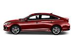 Car driver side profile view of a 2018 Hyundai Sonata Sport 4 Door Sedan