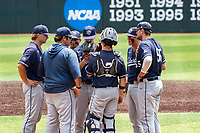 The Liberty Flames played against the Duke Blue Devils in NCAA Regional play on Robert M. Lindsay Field at Lindsey Nelson Stadium on June 4, 2021, in Knoxville, Tennessee. (Danny Parker/Four Seam Images)