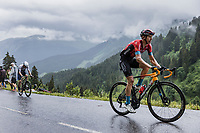 Dylan Teuns (BEL/Bahrain-Victorius) drops Michael Woods (CAN/Israel Start-Up Nation) up the Col de la Colombière on his way to another TdF stage win.<br /> <br /> Stage 8 from Oyonnax to Le Grand-Bornand (150.8km)<br /> 108th Tour de France 2021 (2.UWT)<br /> <br /> ©kramon