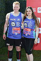 Jack and Holly Ramsey<br /> at the start of the 2018 London Marathon, Greenwich, London<br /> <br /> ©Ash Knotek  D3397  22/04/2018