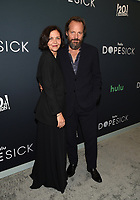 """NEW YORK CITY - OCTOBER 4: Maggie Gyllenhaal and Peter Sarsgaard attends the red carpet premiere of Hulu's """"DOPESICK"""" at the Museum of Modern Art on October 4, 2021 in New York City. . (Photo by Frank Micelotta/Hulu/PictureGroup)"""