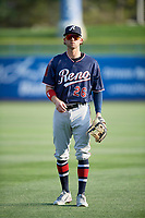 Jake Hager (26) of the Reno Aces before the game against the Salt Lake Bees at Smith's Ballpark on August 24, 2021 in Salt Lake City, Utah. The Aces defeated the Bees 6-5. (Stephen Smith/Four Seam Images)