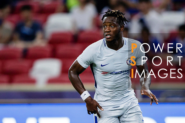 Chelsea Forward Michy Batshuayi in action during the International Champions Cup 2017 match between FC Internazionale and Chelsea FC on July 29, 2017 in Singapore. Photo by Marcio Rodrigo Machado / Power Sport Images