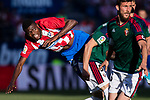 Thomas Teye Partey of Atletico de Madrid (L) in action during the La Liga match between Atletico de Madrid vs Osasuna at Estadio Vicente Calderon on 15 April 2017 in Madrid, Spain. Photo by Diego Gonzalez Souto / Power Sport Images