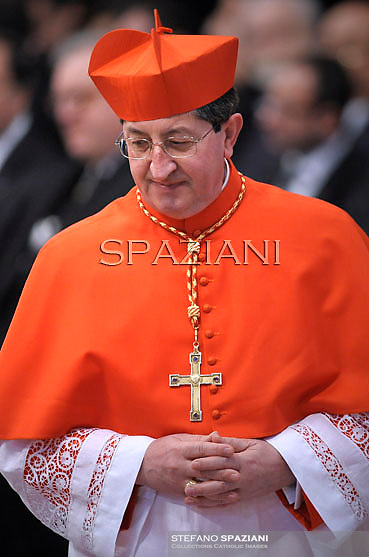 Italian Cardinal Giuseppe Betori, Pope Benedict XVI leads the Consistory where he will appoint 22 new cardinals on February 18, 2012 at St Peter's basilica at the Vatican.