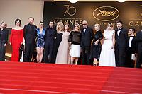 ELODIE BOUCHEZ, SANDRINE KIBERLAIN, ISABELLE HUPPERT, CATHERINE DENEUVE, ANDRE TECHINE, EMMANUELLE BEART, LAMBERT WILSON, JULIETTE BINOCHE, PIERRE DELADONCHAMPS - 'The Killing of a Sacred Deer' Red carpet during Cannes Film Festival in Cannes, France, 22/05/2017. # 70EME FESTIVAL DE CANNES - RED CARPET 'MISE A MORT DU CERF SACRE'