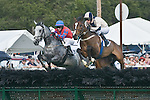 25 Apr 2009: Harrys Crown and Carl Rafter (2nd); General Skye and Jeff Murphy in the Blue Ridge Maiden Claiming Hurdle at the Foxfield Races in Charlottesville, Virginia.