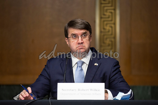 United States Secretary of Veterans Affairs (VA) Robert Wilkie testifies before the United States Senate Committee on Veteran's Affairs on Capitol Hill in Washington D.C., U.S., on Wednesday, June 3, 2020.  Credit: Stefani Reynolds / CNP/AdMedia