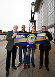 Colin Jackson, Mark Hateley, Richard Gough and Derek Johnstone at the Hilton Garden Inn, Glasgow to kick off the 140 year celebrations