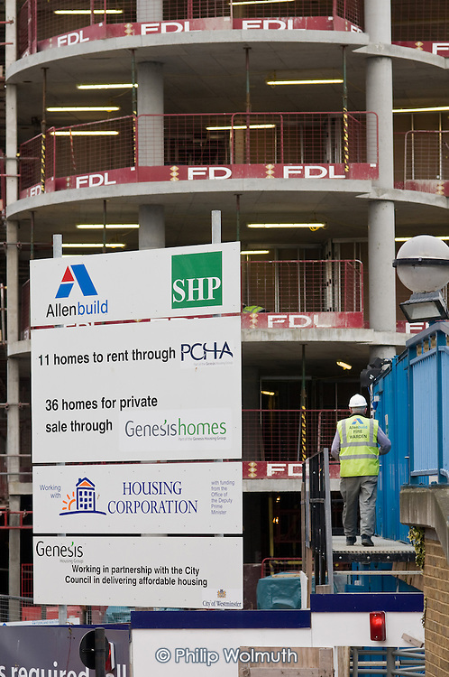 Construction of mixed tenute housing block on the Harrow Road, by PCHA and Genesis Homes.