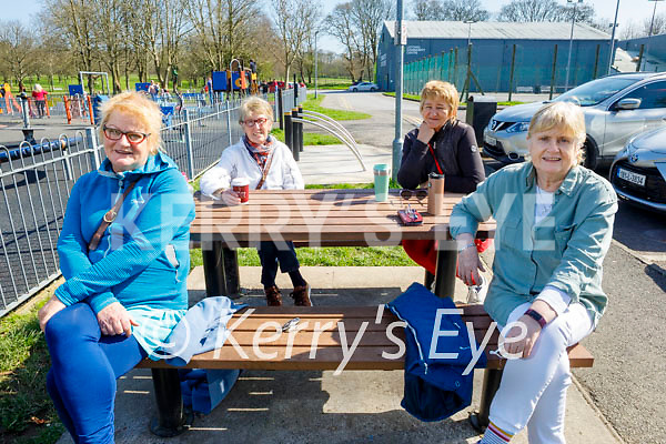 Enjoying a stroll in the Listowel town park on Good Friday, l to r: Martha Woulfe, Ann McCarthy, Mary Keane and Margaret Collins.