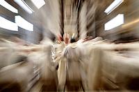 Prelati durante la Messa del Crisma in occasione del Giovedi' Santo celebrata da Papa Francesco nella Basilica di San Pietro, Citta' del Vaticano,29 marzo 2018.<br /> Prelats attend the Chrism Mass for Holy Thursday in Saint Peter's Basilica at the Vatican, on March 29, 2018.<br /> UPDATE IMAGES PRESS/Isabella Bonotto<br /> <br /> STRICTLY ONLY FOR EDITORIAL USE