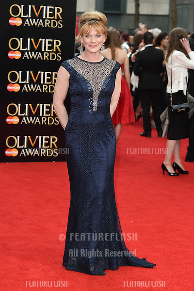 Samantha Bond arrives for the Olivier Awards 2015 at the Royal Opera House Covent Garden, London. 12/04/2015 Picture by: Steve Vas / Featureflash