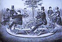 Technology:  Bicycle Merry-Go-Round--Sturdy & Young's Velocipede.  SCI. AM.  June 12, 1869.