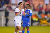 HOUSTON, TX - JANUARY 28: Carli Loyd #10 of the United States celebrates during a game between Haiti and USWNT at BBVA Stadium on January 28, 2020 in Houston, Texas.