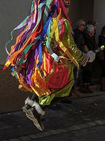 Kehrer beim Umzug des Nassereither Schellerlauf, Fasnacht in Nassereith, Bezirk Imst, Tirol, Österreich, Europa, immaterielles UNESCO Weltkulturerbe<br /> Kehrer at parade of  Nassereither Schellerlauf-Fasnacht, Nassereith, Tyrol, Austria Europe, Intangible World Heritage