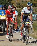 Alberto Contador (w) and Joaquin Purito Rodriguez during the stage of La Vuelta 2012 between Gijon and Valgrande-Pajares (Cuitu Negru).September 3,2012. (ALTERPHOTOS/Paola Otero)