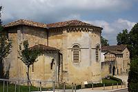 France, Aquitaine, Landes (40) , Hastingues: Abbaye d'Arthous , l'église Notre Dame - le chevet /  France, Aquitaine, Landes, Hastingues: Arthous abbey, bedside