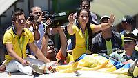 MEDELLIN -COLOMBIA, 23-08-2016. Recibimiento triunfal  de los ciudadanos de Medellín a Mariana Pajón , Carlos Mario Oquendo y Ramírez medallistas olímpicos en los juegos olímpicos en Brasil . / Reception of citizens from Medellin to Mariana Pajon, Carlos Oquendo and Ramirez Olympians at the Olympic Games in Brazil medalists. Photo:VizzorImage / León Monsalve   / Contribuidor