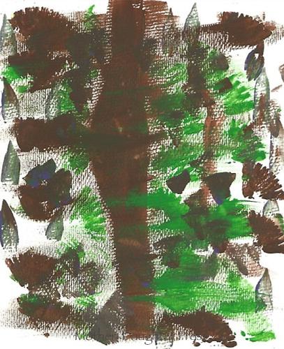 """Hurricane Tree"" Painting by Graeme Schaefer, Grade 2, Yarmouth, ME, USA"